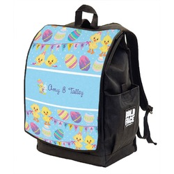 Happy Easter Backpack w/ Front Flap  (Personalized)