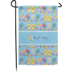 Happy Easter Garden Flag - Single or Double Sided (Personalized)