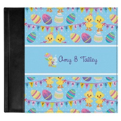 Happy Easter Genuine Leather Baby Memory Book (Personalized)