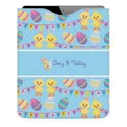 Happy Easter Genuine Leather iPad Sleeve (Personalized)