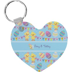Happy Easter Heart Keychain (Personalized)