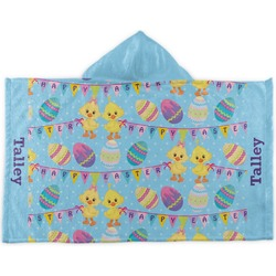 Happy Easter Kids Hooded Towel (Personalized)