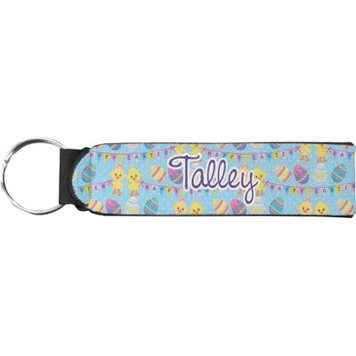 Happy Easter Neoprene Keychain Fob (Personalized)