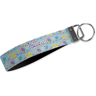Happy Easter Wristlet Webbing Keychain Fob (Personalized)