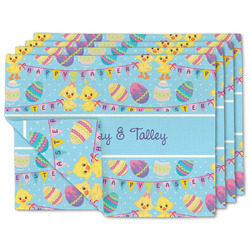 Happy Easter Linen Placemat w/ Multiple Names