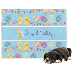 Happy Easter Minky Dog Blanket (Personalized)