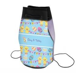 Happy Easter Neoprene Drawstring Backpack (Personalized)