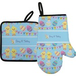 Happy Easter Oven Mitt & Pot Holder (Personalized)