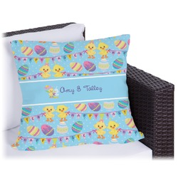 Happy Easter Outdoor Pillow (Personalized)