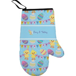 Happy Easter Right Oven Mitt (Personalized)