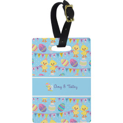Happy Easter Rectangular Luggage Tag (Personalized)