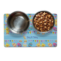 Happy Easter Pet Bowl Mat (Personalized)