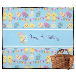 Happy Easter Outdoor Picnic Blanket (Personalized)