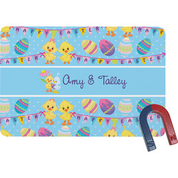 Happy Easter Rectangular Fridge Magnet (Personalized)