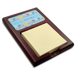 Happy Easter Red Mahogany Sticky Note Holder (Personalized)