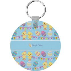 Happy Easter Round Keychain (Personalized)