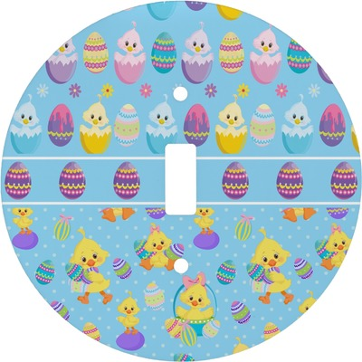 Happy Easter Round Light Switch Cover (Personalized)