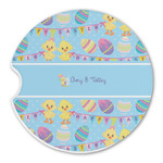 Happy Easter Sandstone Car Coasters (Personalized)