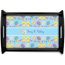 Happy Easter Black Wooden Tray (Personalized)