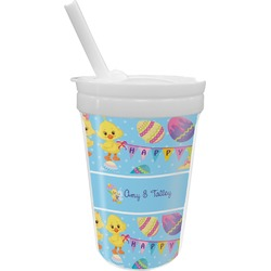 Happy Easter Sippy Cup with Straw (Personalized)