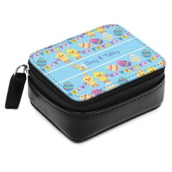 Happy Easter Small Leatherette Travel Pill Case (Personalized)