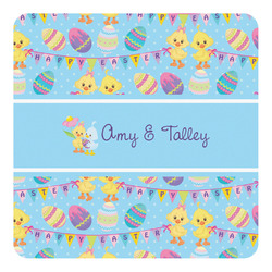Happy Easter Square Decal - Large (Personalized)