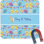 Happy Easter Square Fridge Magnet (Personalized)