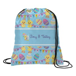 Happy Easter Drawstring Backpack (Personalized)