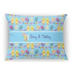 Happy Easter Rectangular Throw Pillow (Personalized)