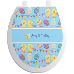 Happy Easter Toilet Seat Decal (Personalized)