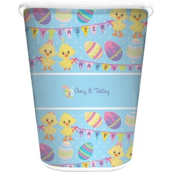 Happy Easter Waste Basket - Double Sided (White) (Personalized)
