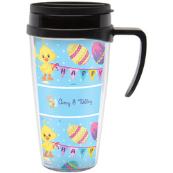 Happy Easter Travel Mug with Handle (Personalized)