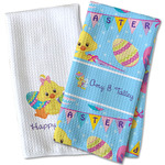 Happy Easter Waffle Weave Kitchen Towel (Personalized)
