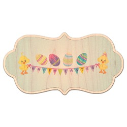 Happy Easter Genuine Maple or Cherry Wood Sticker (Personalized)
