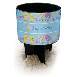 Happy Easter Black Beach Spiker Drink Holder (Personalized)