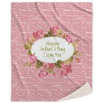 Mother's Day Sherpa Throw Blanket