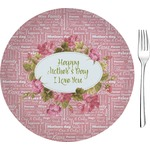 "Mother's Day Glass Appetizer / Dessert Plates 8"" - Single or Set"