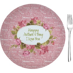 "Mother's Day 8"" Glass Appetizer / Dessert Plates - Single or Set"