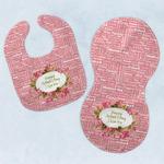 Mother's Day Baby Bib & Burp Set