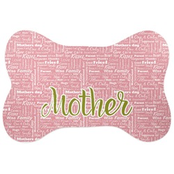 Mother's Day Bone Shaped Dog Food Mat
