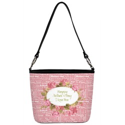 Mother's Day Bucket Bag w/ Genuine Leather Trim