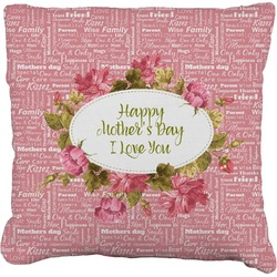 """Mother's Day Faux-Linen Throw Pillow 26"""""""
