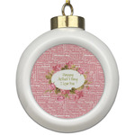 Mother's Day Ceramic Ball Ornament