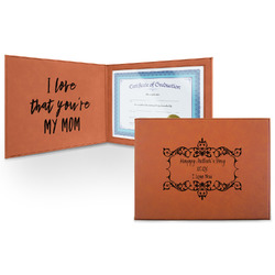 Mother's Day Leatherette Certificate Holder