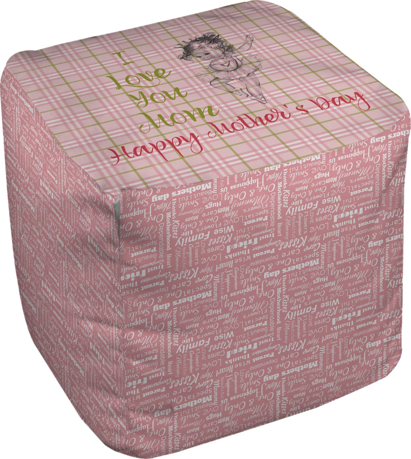 mother 39 s day cube pouf ottoman 18 youcustomizeit. Black Bedroom Furniture Sets. Home Design Ideas