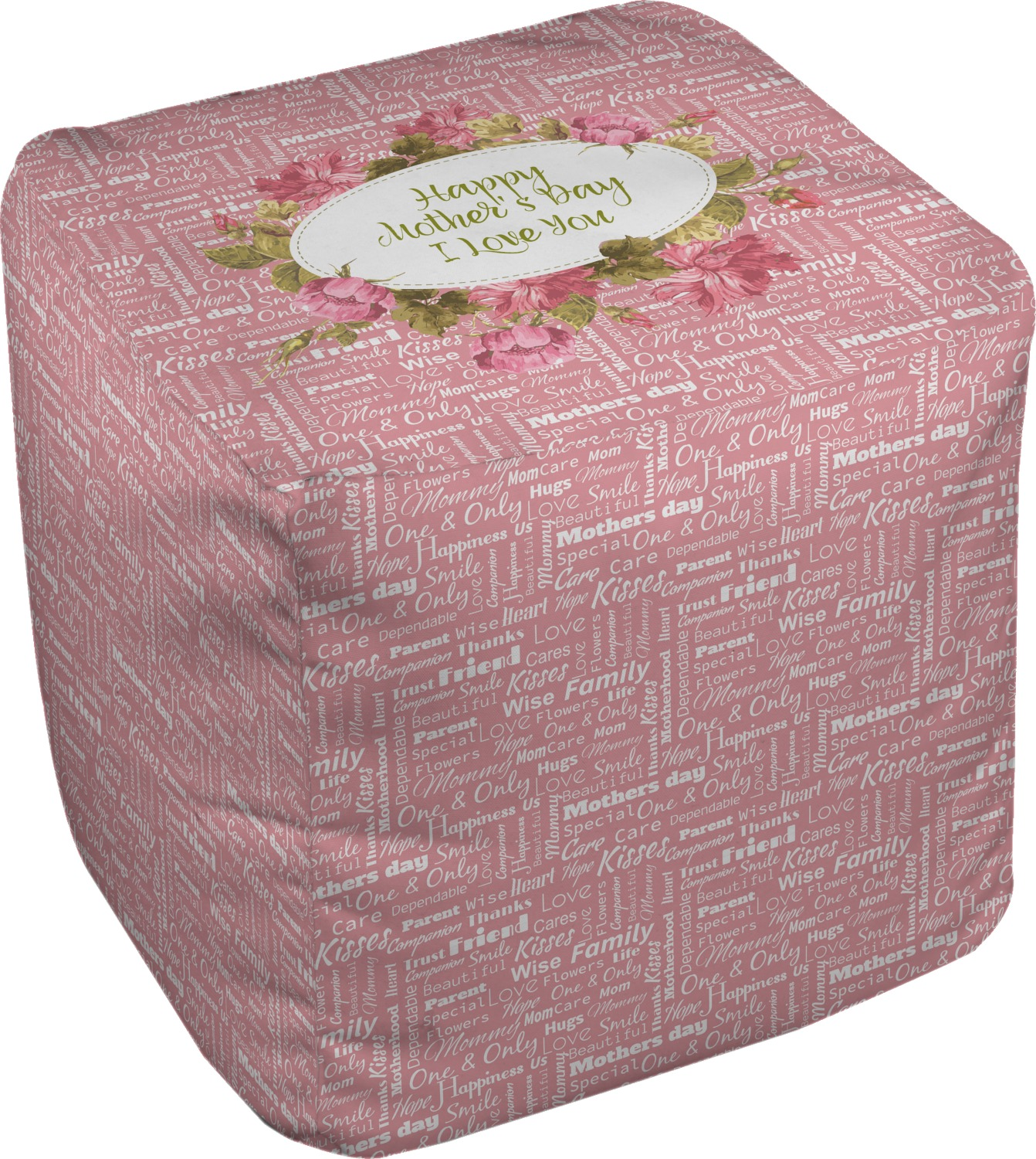 mother 39 s day cube pouf ottoman 13 youcustomizeit. Black Bedroom Furniture Sets. Home Design Ideas