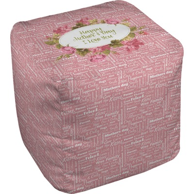 Mother's Day Cube Pouf Ottoman