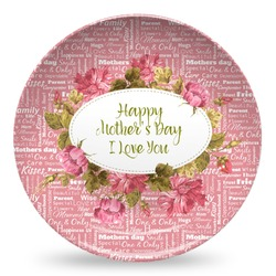 Mother's Day Microwave Safe Plastic Plate - Composite Polymer