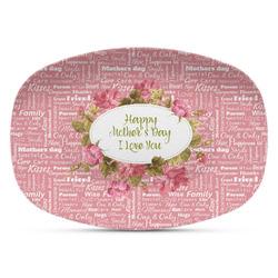 Mother's Day Plastic Platter - Microwave & Oven Safe Composite Polymer