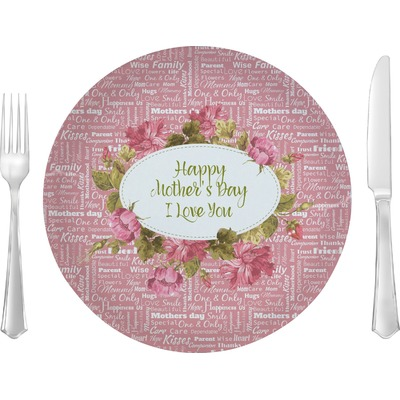 """Mother's Day 10"""" Glass Lunch / Dinner Plates - Single or Set"""